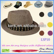 El sombrero de paja 100% del papel de las mujeres más nuevas de la decoración del diamante, LSP10