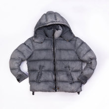 Nylon garment dyed down jacket