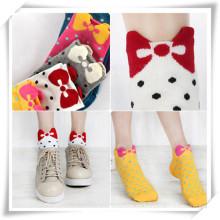 Calcetines de algodón para el regalo promocional con las mujeres (TI04003)