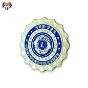 Flower lion badge for man decoration