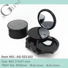 Ronda especial compacto polvo envase con Blush y sombras AG-ES1102, empaquetado cosmético de AGPM, colores/insignia de encargo