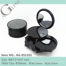 Rodada especial compacto pó recipiente com Blush e sombra de olho AG-ES1102, AGPM embalagens de cosméticos, cores/logotipo personalizado