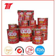 Marca de Tmt orgánica Pasta de tomate enlatada de Brix 28-30% para el precio al por mayor
