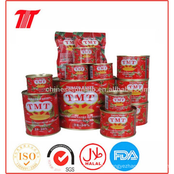 Organic Tmt Brand Canned Tomato Paste of Brix 28-30% for Wholesale Price