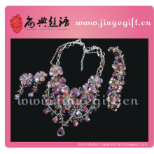 Fashion Design Charming Gorgeous Brilliant Purple Crystal Diamond Jewelry Sets