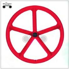 Red 5 spoke bicycle 700c mag wheel