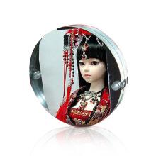 Display acrílico magnético personalizado para fotos, tela acrílica clara