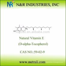 Assurance commerciale Hygiène alimentaire Poudre mélangée de tocophérol 50% -95%