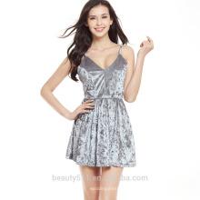 Venta al por mayor Alibaba 2016 mujeres de moda de verano étnicas impresas Boho faldas señoras ocasionales lado Slit cortos falda SD06