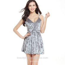 Vente en gros Alibaba 2016 Summer Fashion Women Ethnic imprimé Boho Jupes Ladies Casual Side Slit COURT Jupe SD06