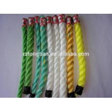 corde torsadée 3 brins corde d'amarrage PP / polypropylène