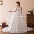 2018 свадебные платья линия рукавов свадебные платья с кружевом органзы многоуровневое плюс Размер свадебные платья