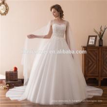 2018 robes de mariée de pays une ligne robes de mariée sans manches avec dentelle Organza à plusieurs niveaux robes de mariée de taille