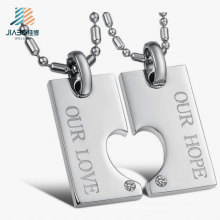 Die-Casting Alloy Silver Laser Engrave Logo Metal Love Tags