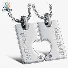 O laser de fundição da liga da prata do laser grava etiquetas do amor do metal do logotipo