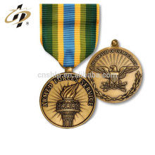 Free sample die casting custom bulk blank round copper embossed old gold sport metal medals
