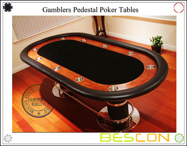 Gamblers Pedestal Poker Tables