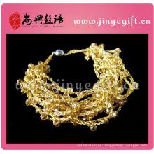 Pulsera hecha a mano hecha a mano del cordón de la joyería del ganchillo de la joyería pulsera única de la cuerda