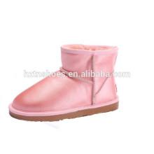 Senhoras couro botas de neve botas de couro para as mulheres