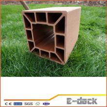 Горячие продажи переработанной древесины пластиковые композитные дешевые столбы забор для продажи