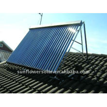 150 liter flat plate solar water heater mounted on slant roof