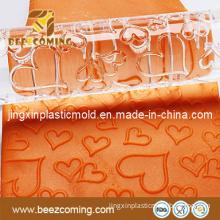 2013 Hot Selling Fondant Cake Love Heart Roller Acrylic Rolling Pin (FR-001)