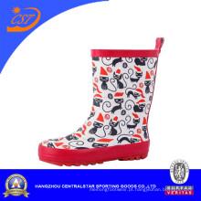 Crianças botas de chuva de borracha