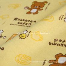 100% хлопчатобумажная фланелевая ткань для пижамы с мультфильмом (C20X10 / 40X42)