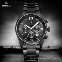 O homem de aço luxuoso do cronógrafo olha o relógio de pulso análogo 72182 de quartzo