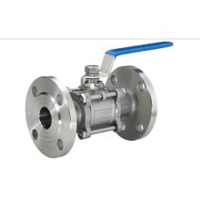 Vanne à bille à bride en acier inoxydable sanitaire à 3PC (IFEC-BV100014)
