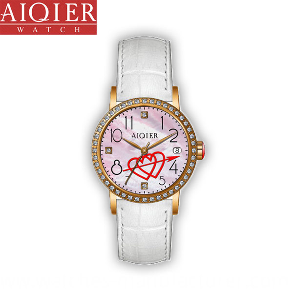 Diamond lady quartz watch