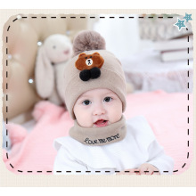 Baby hat scarf autumn/winter knitted hat for newborns