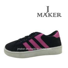 Fabricación de zapatos de lona ocasionales para niños (JM2077-B)