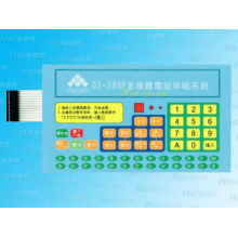 Botón grabado con una buena sensación táctil poly dome membrane keypad