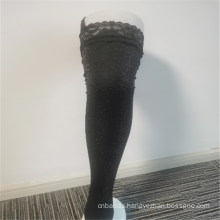 Modern Ladies' Beaded Trim Silk Nylon Lace Stockings