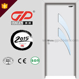 Top grade design and quality PVC wooden door with glass