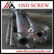 Barril bimetálico de un solo tornillo para extrusora de cable de PVC
