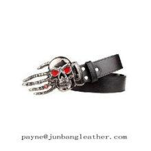Fashion Hand-Shaped Skull Leather Belt