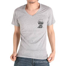 Custom Logo Cotton V Neck Summer Wholesale Fashion Men T Shirt