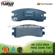 Plaquettes de freins en céramique, NOA, plaquettes de frein à disque, (OE: 1802 4962 / FMSI: D698-7387)