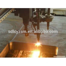 Flame cutting steel plate