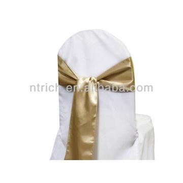 Champagner, ausgefallene Mode satin Stuhl zurück Krawatte, Fliege, Knoten, Hochzeit Stuhlhussen und Schärpen