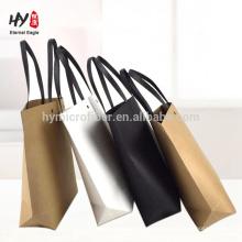 bolso de compras de papel respetuoso del medio ambiente de la manera simple
