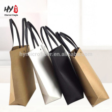 saco de compras de papel simples eco-friendly moda