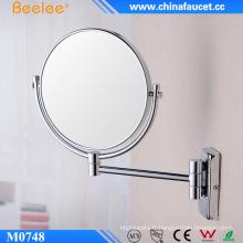 Miroir mural cosmétique 3X en laiton chromé