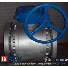 API 6D 3PC Flanged Forged Trunnion Mounted Ball Valve