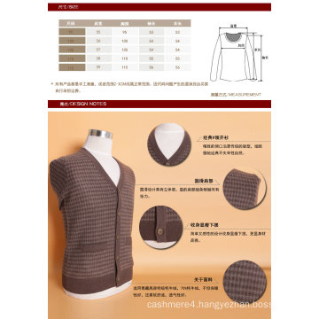 Yak Wool /Cashmere V Neck Cardigan Long Sleeve Sweater/Clothing/Garment/Knitwear