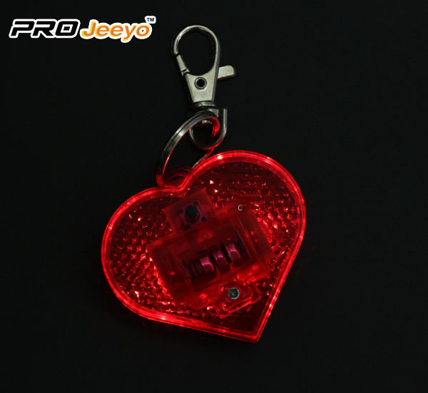 LED Hi Vis Safety Children School Bag Red Keychain RB-501D 3