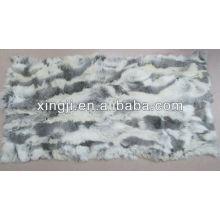 Китайский шиншилла кролик мех живота плита-натуральный цвет меха кролика объедки