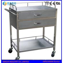Mobilier d'hôpital Chariot d'hôpital multifonction en acier inoxydable